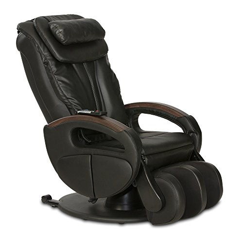 Massagesessel »Komfort Deluxe«, Shiatsu-Massage, Wärmefunktion, 4 Massagetechniken, 6 Massagezonen, Transportrollen, inkl. Kopf- & Nackenkissen, elektischer Relaxsessel (Schwarz)