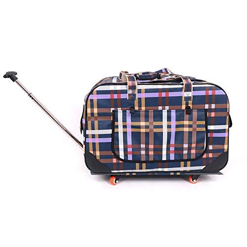 QIAN Hund Ausgehendes Paket 4 Runden Faltbar Trolley Kat Warenkorb Wasserdicht Atmungsaktiv Mehrzweck Koffer Heimtierbedarf,C