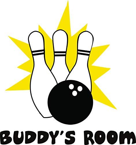 Bowling-Pins und Kugeln Strike Bowl Personalisierte Namen Zitate Zitate Wandaufkleber Aufkleber Vinyl Art Decor Kinder Dekoration für Schlafzimmer Größe 50,8 x 50,8 cm