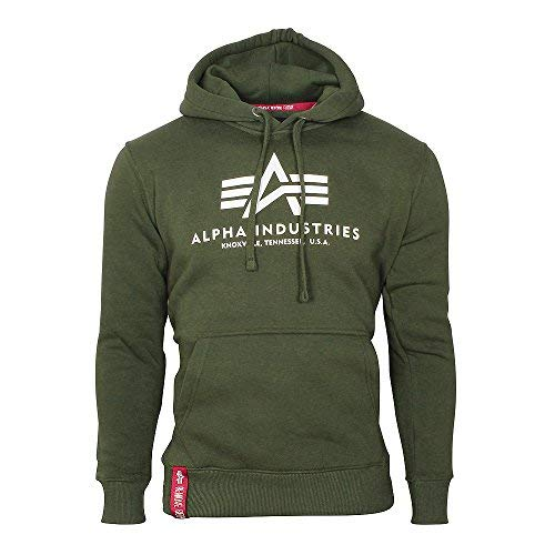 Alpha Industries Basic Hoodie Oliv XL