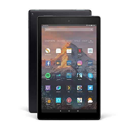 Fire HD 10-Tablet, 1080p Full HD-Display, 32 GB, Schwarz, mit Spezialangeboten