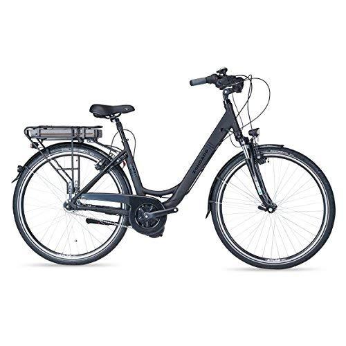 Zündapp E-Bike Alu-City Green 6.0 Premium | 28 Zoll | schwarz | Damen | 7 Gang Shimano Nabenschaltung | Felgenbremse | Rücktrittbremse | 250 W | Elektrofahrrad | 100 km | Reflex-Pannenstoppbereifung