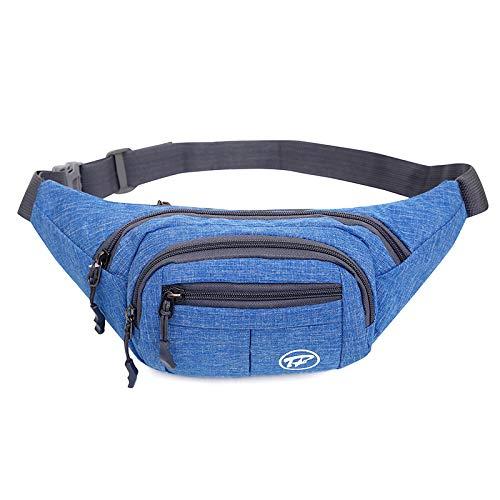 Gürteltasche, Fmway Bauchtasche Reisetasche Multifunktionale Hüfttasche 4 Fächer mit Reißverschluss (shwarz) (Blau)