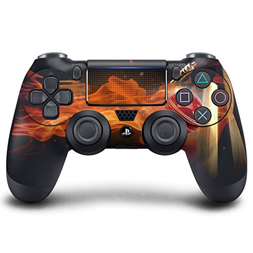 PS4 DualShock Wireless Controller Pro Konsole PlayStation4 Controller mit weichem Griff und exklusiver individueller Version Skin (PS4-Ashes Cricket)