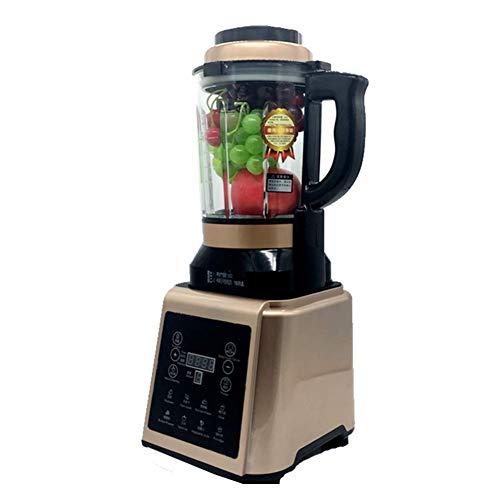 QIN.J.FANG 1.75L Glas Jar Digital Kochen Mixer Heißer Suppe Maker Kocher Mixer Entsafter Food Grinder Prozessor mit Wärmefunktion,Gold