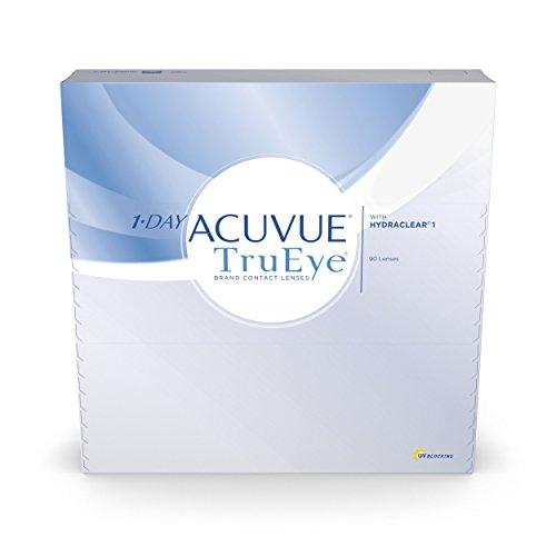 Acuvue 1-Day TruEye Tageslinsen weich, 90 Stück / BC 8.5 mm / DIA 14.2 / -3 Dioptrien