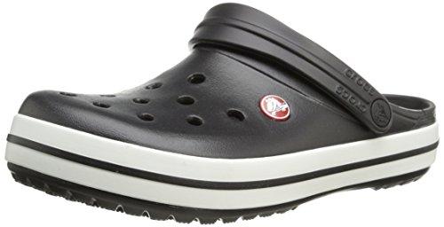 crocs Unisex-Erwachsene Crocband U' Clogs, Schwarz(Black/White), 46/47 EU
