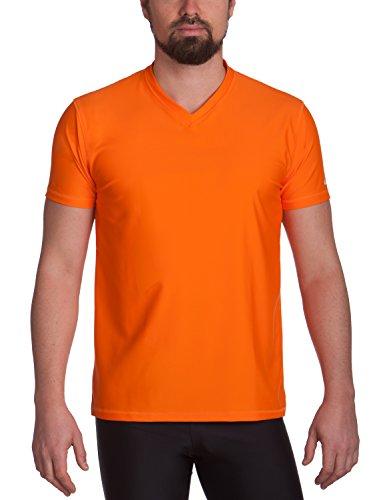 iQ-UV Herren 300 Regular geschnitten, V-Ausschnitt, UV-Schutz T-Shirt, Orange XL (54)