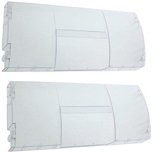 SPARES2GO Klappkorbgriff der Schubladenabdeckung vorne für Nordfrost-Kühlschrank mit Gefrierfach (2 Stück)