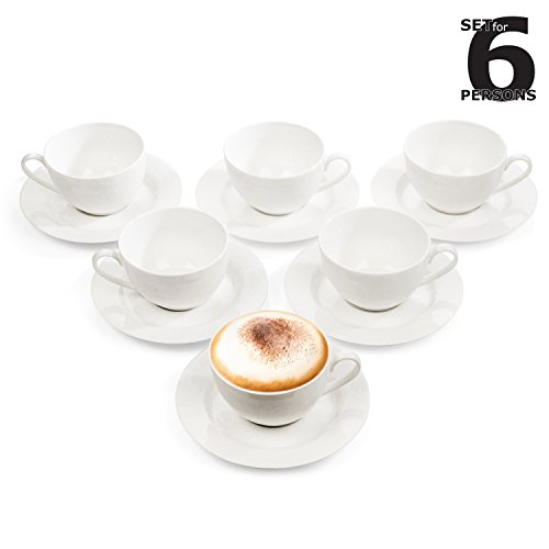 Cappuccino-Tassen Set / Kaffee-Tassen / Tee-Tassen Service für 6 Personen (12-teilig)