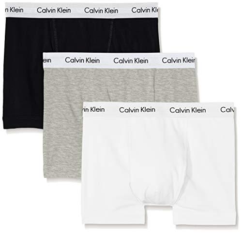 Calvin Klein Herren 3er Pack Trunk,Mehrfarbig (schwarz/weiß/grau),M