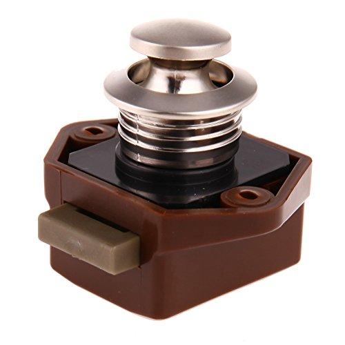Push Lock, Mini-Push-Lock-Knopf RV-Verschluss Caravan Boot Motorschrank Push-Latch (braun)-starnearby