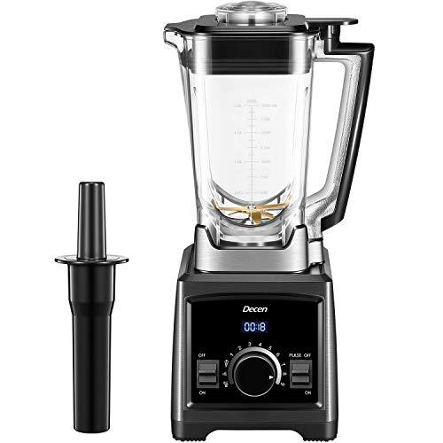 Mixer Smoothie Maker, Decen 2000W Standmixer, 32.000 U/min Smoothie Blender, 2L Tritan-Behälter ohne BPA Multifunktion Smoothiemaker 3 Programme, 9 Geschwindigkeiten, Selbstreinigung und LED-Anzeige