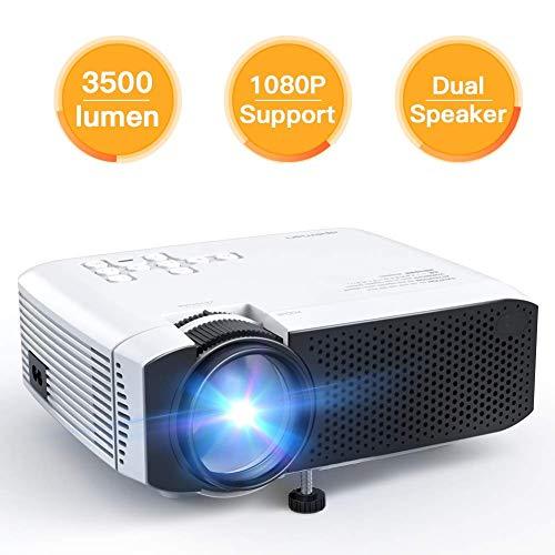 Beamer Apeman Mini Beamer Tragbarer 3500 Lumen unterstützt Full HD 1080P Multimedia für Heimkino-LED 45000 Stunden HDMI / VGA / AV / TF / USB Kompatibel mit TV Box / Chromecast Mehrweg