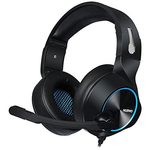 PS4 Gaming Headset Mikrofon-Lautstärkeregler, Xbox One PC Stereo-Kopfhörer, In-Line Control für PC, Laptop, Mac, Windows, Nintendo Switch (N11D - 3.5mm, Schwarz - Blau)