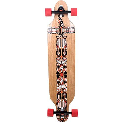 Longboard Slick Carver Drop Through 106 cm Freeride Skateboard Cruiser , Farbe:Totem