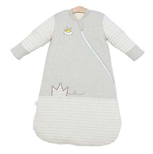 Chilsuessy Kinderschlafsack Baby Winterschlafsack Schlafanzug Schlafsaecke aus GOTS Bio Baumwolle Verschiedene Groessen von Geburt bis 4 Jahre alt, Gruen, XL/Koerpergroesse 90-100cm