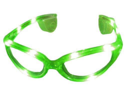Alsino Blinkende LED blink Brille grün Blinky Eyewear Karneval