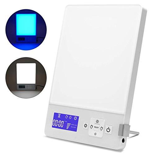 Tageslichtlampe 10000 Lux Led Tageslicht,gegen Depressionen,Lichtdusche,Sonnenlicht,Simuliert Tageslicht mit einer Lichtstärke von 10,000 Lux,Weiß Blaues Color