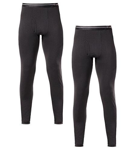 LAPASA Herren 2 Pack Leicht Unterhosen M010 Schwarz L Ultra-dünne MEHRWEG