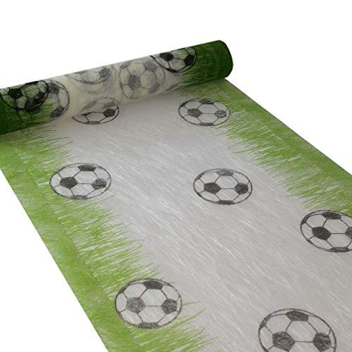 Sizoflor Fußballtischläufer - weiß/grün - 30 cm breit - 5 Meter Rolle - 76-300-5