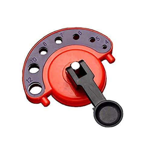 Gosono 4-12 mm Diamantbohrkrone für Fliesen, Glas, Lochsäge, Kernbohrer, mit Vakuum-Sockel, Fliesen, Glasöffnungen