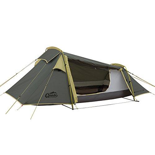 Qeedo Light Spruce 1, leichtes 1 Mann Trekking-Zelt (1,97 kg), kleines Packmaß, Tunnelzelt