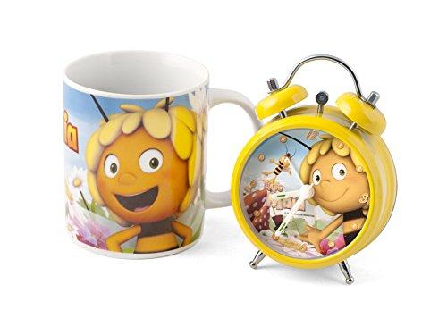 Disney Ape Maia Wecker mit Tasse, Porzellan/Kunststoff, Vielfarbig, 2 Stück