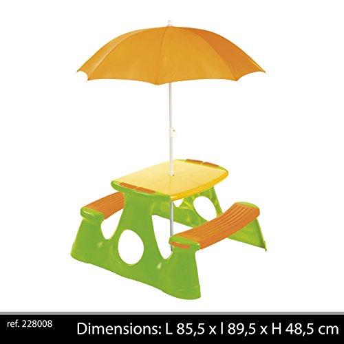 Paradiso T00759 - Picknicktisch mit Sonnenschirm