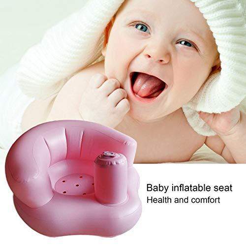 YOUNICER Baby aufblasbarer Sitz Verstärker lernen Sofa mit der Rückenlehne zu sitzen die in der Luftpumpe für Kleinkind Kinderbad Schwimmen Spiel errichtet wird entspannen sich täglich Sitzstuhl