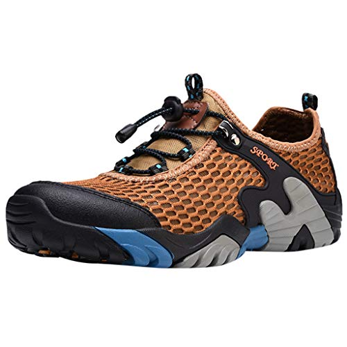 Kolylong® Herren Damen Mesh Atmungsaktiv Trekking Sandale Wanderschuhe Draussen Hiking Schuhe Mesh Vamp Wasserschuhe Sport Laufen Klettern 38-46