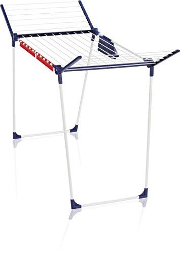 Leifheit Standtrockner Pegasus 180 Solid Plus mit stabilem Stand, Wäscheständer für lange Wäsche, Flügelwäschetrockner für platzsparende Aufbewahrung