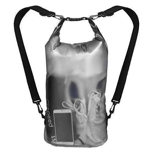 CLISPEED Dry Bag Wasserfester Rucksack wasserdichte Tasche für Schwimmen Angeln Rafting Camping (15L)