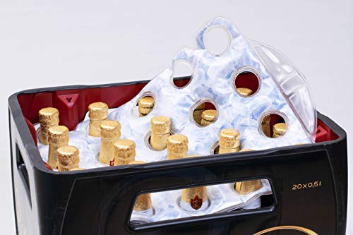 SELAGO Premium Bierkistenkühler Eiswürfeloptik Flaschenkühler Getränkekühler und Bierkastenkühler für 20x 0,5L Bierkasten & 20x 0,33L Bierkästen 20`er Kiste Bierkasten