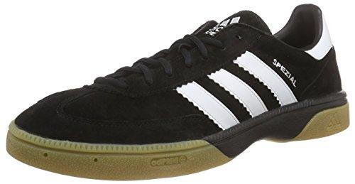 adidas HB Spezial Herren Handballschuhe, Schwarz (Black 1/Running White/Black 1), 46 EU