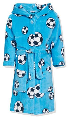 Playshoes Jungen Football Fleece Bademantel, Blau 7), 134/140