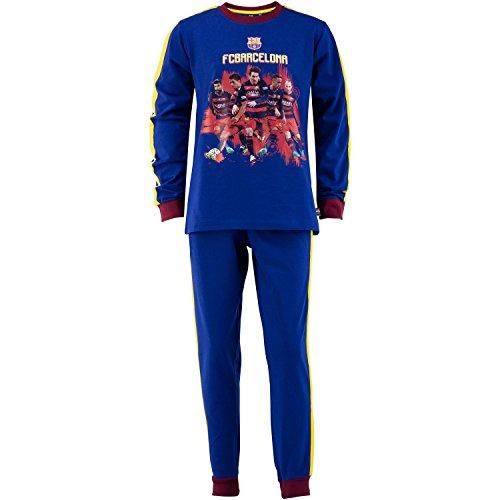 F. C. Barcelona Pyjama , offizielle Kollektion, Kindergröße Jungen 10 Jahre blau
