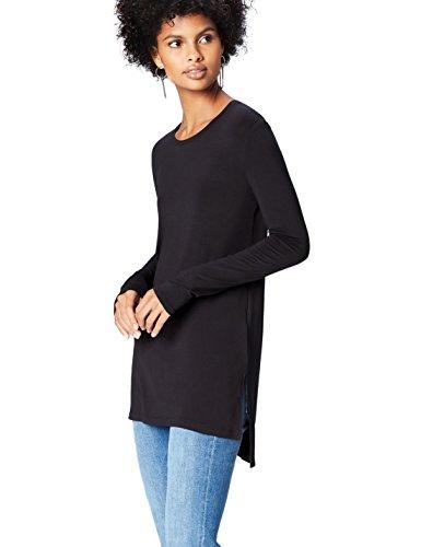 find. 18136 t shirt damen, Schwarz (Black), 40 (Herstellergröße: Large)