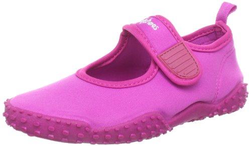Playshoes Kinder Aquaschuhe, Badeschuhe klassisch mit UV-Schutz, 18/19, Pink (Pink 18)