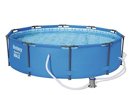 Bestway Steel Pro MAX, Frame Pool rund mit Stahlrahmen und Filterpumpe, 305x305x76 cm