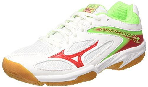 Mizuno Unisex-Kinder Lightning Star Z3 Jnr Volleyballschuhe Mehrfarbig (Whitechineseredgreengecko) 34.5 EU