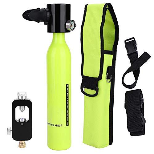Alomejor Sauerstoff Tauchflaschen + Hydropneumatischem Adapter + Atemschutzbeutel Tragbare Leichte Tauchausrüstung
