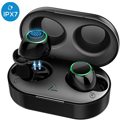 Mpow Bluetooth Kopfhörer in Ear Sport Kabellos Ohrhörer Headset Wireless Earbuds Touch-Control/ IPX7 Wasserdicht/ 2 Modi/BT 5.0/21 Std Spielzeit mit Ladebox, Mikrofon für iPhone Samsung Huawei