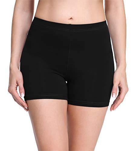 Merry Style Damen Shorts Radlerhose Unterhose Hotpants Kurze Hose Boxershorts aus Viskose MS10-283 (Schwarz(Shorts), XS)