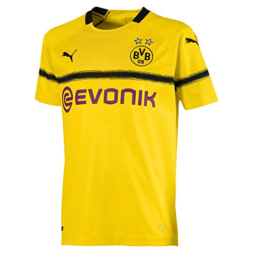 Puma Kinder BVB Cup Shirt Replica Jr with Evonik Without OPEL Logo Trikot, Cyber Yellow, 140