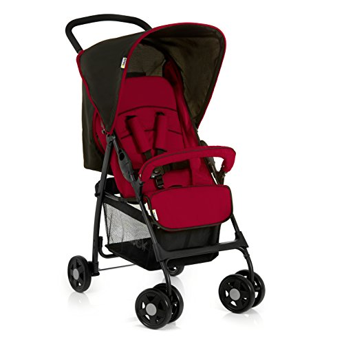 Hauck Buggy Sport / mit Liegefunktion, klein zusammenfaltbar / für Kinder ab Geburt bis 15 kg, Caviar Tango (Rot)