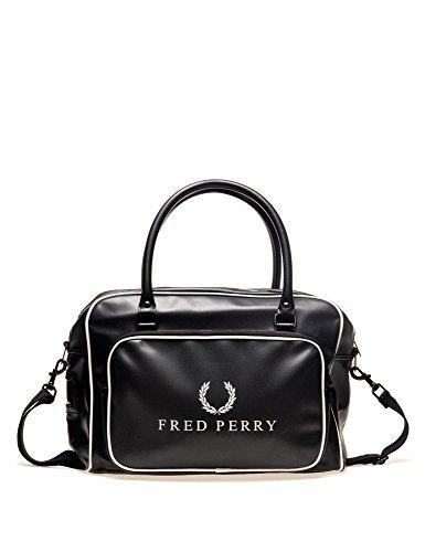 Fred Perry Tasche Sporttasche Monochrome Holdall Schwarz Black