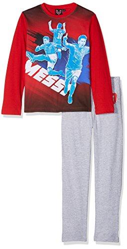 Lionel Messi Jungen Zweiteiliger Schlafanzug Messi Rot (Red 19-1763TC) 5 Jahre