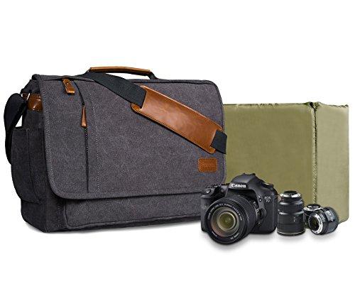 Estarer Fototasche SLR/DSLR Kamera Tasche aus Wasserabweisend Canvas Grau
