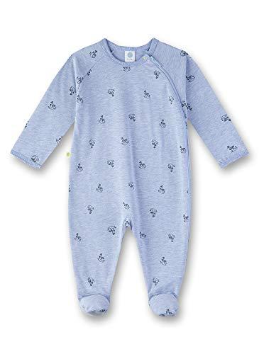 Sanetta Baby-Jungen Overall Strampler, Blau (Oxford Mel 50252), 98 (Herstellergröße: 098)